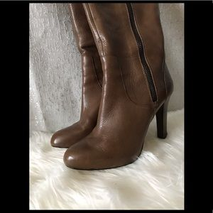 INC taupe knee high boots sz 9.5